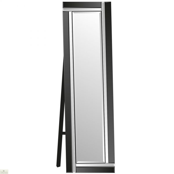 Venetian Black Colour Block Mirror_4
