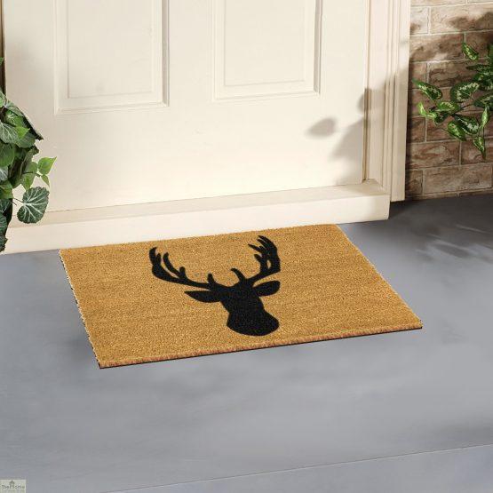 Stags Head Silhouette Doormat_4