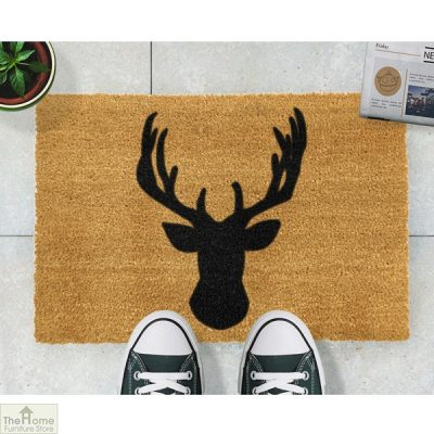 Stags Head Silhouette Doormat_2