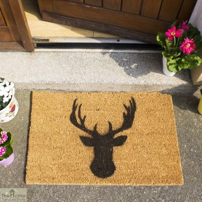 Stags Head Silhouette Doormat_3