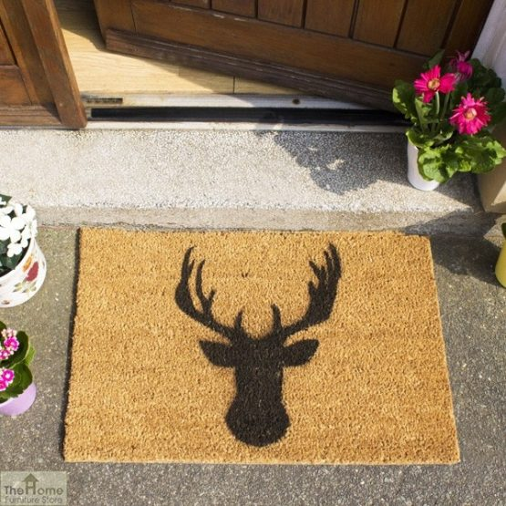 Stags Head Silhouette Doormat_3
