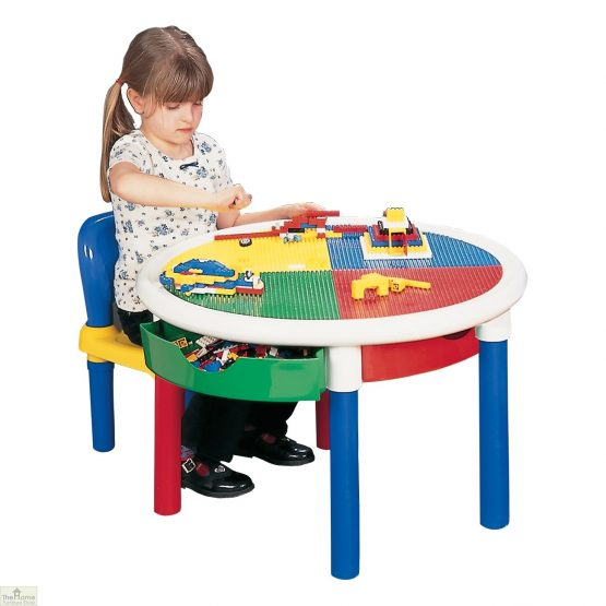 4 Drawer Round Activity Table