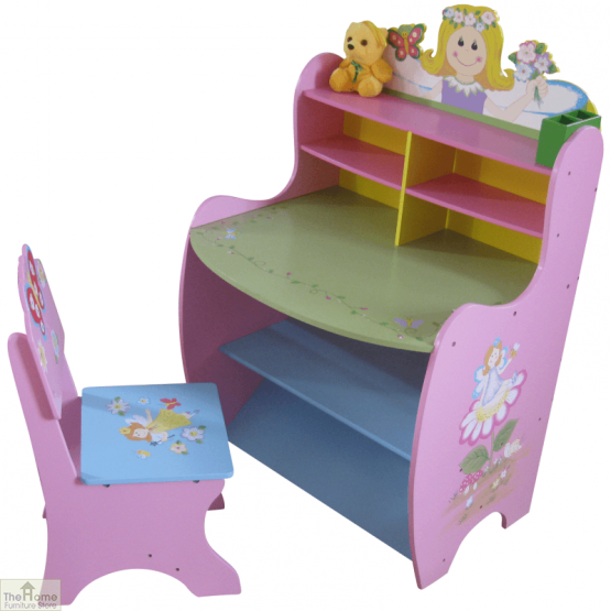 Pink Fairy Learning Desk And Chair