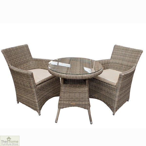 Casamoré Corfu 2 Seater Round Carver Chair Bistro Set