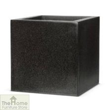 Lux Black Resin Square Planter