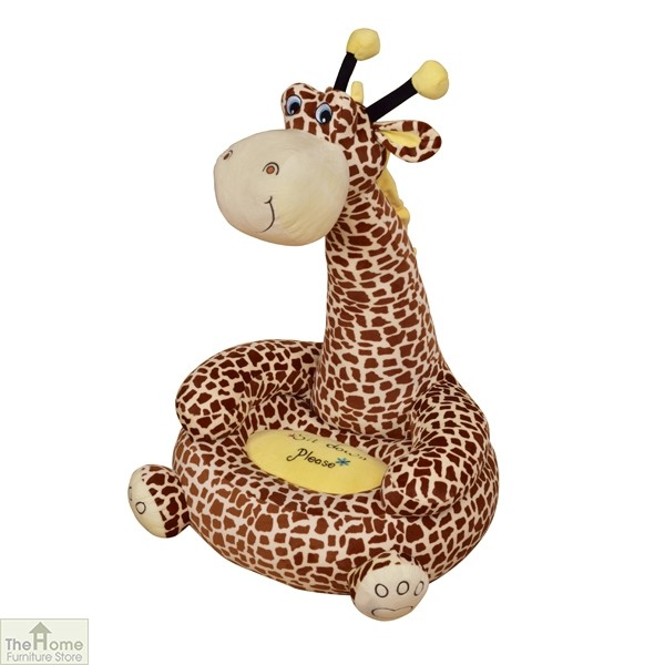 Plush Brown Giraffe Sitting Chair