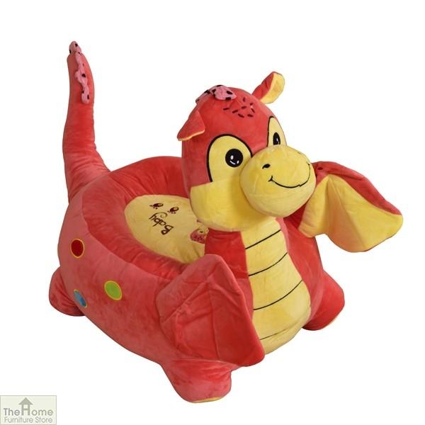 Plush Pink Dragon Riding Chair