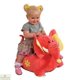 Plush Pink Elephant Riding Chair