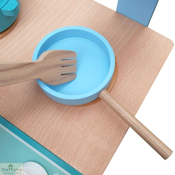 Blue wooden table top toy kitchen the home furniture store for Wooden tabletop kitchen