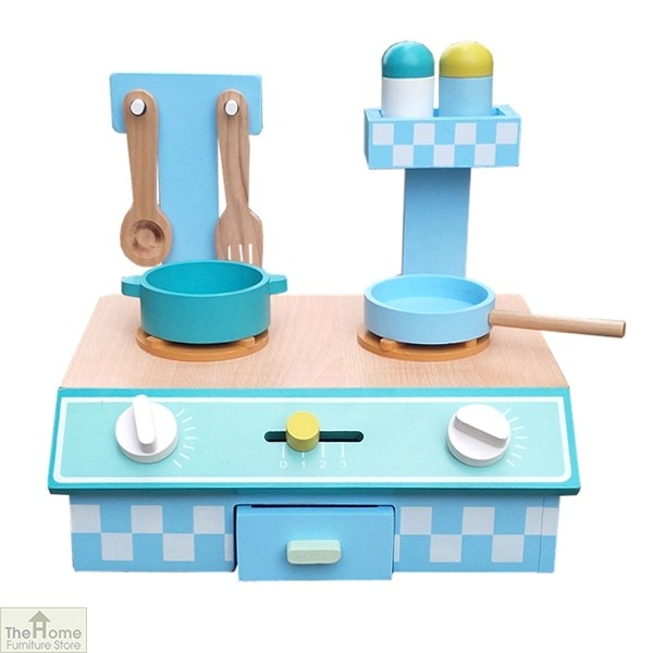 Blue Wooden Table Top Toy Kitchen