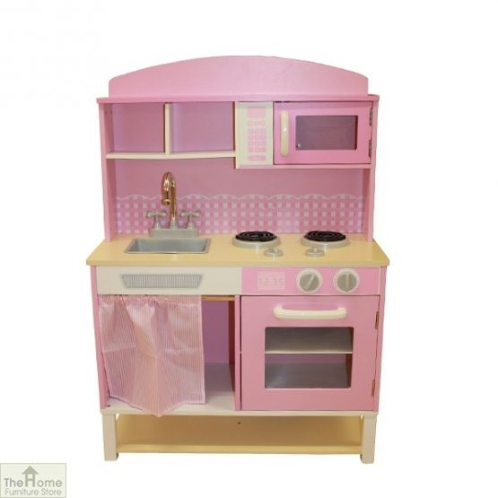 Pink Wooden Toy Kitchen