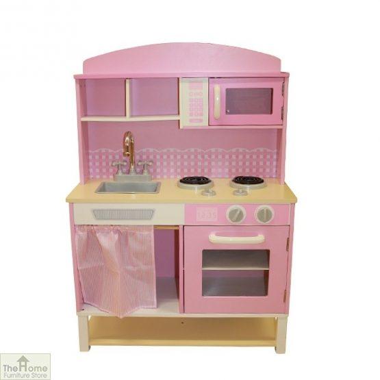 Pink Wooden Toy Kitchen