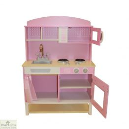 Pink Wooden Toy Kitchen_1