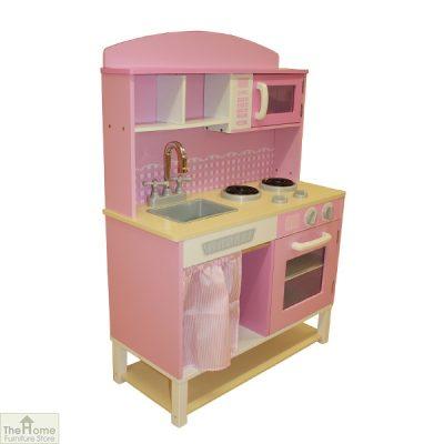 Pink Wooden Toy Kitchen_2