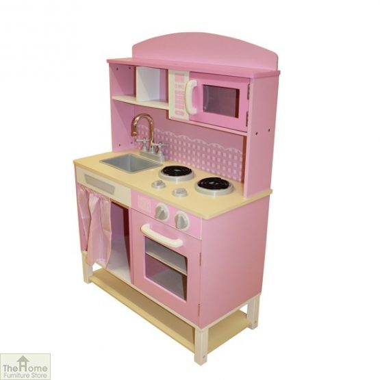 Pink Wooden Toy Kitchen_3