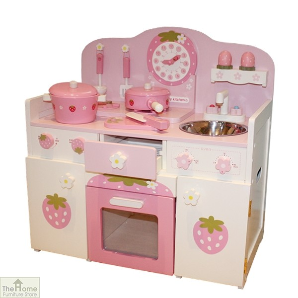 Pink Country Wooden Toy Kitchen