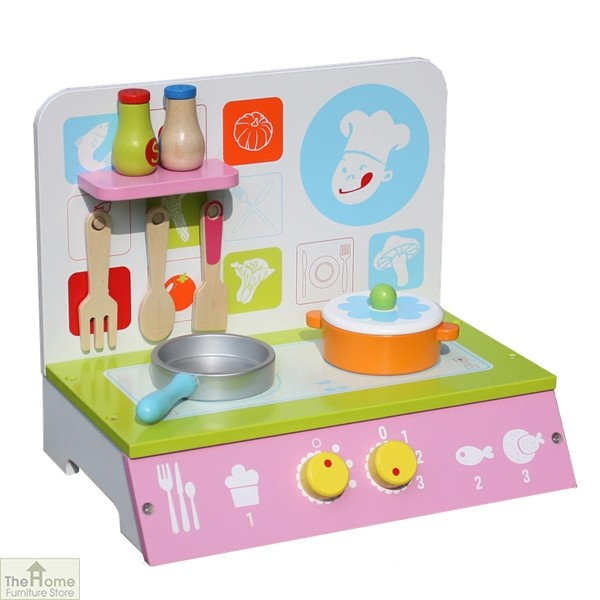 Chefs Wooden Table Top Toy Kitchen