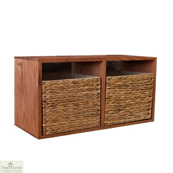 Casamor Oak 2 Drawer Wall Unit The Home Furniture Store