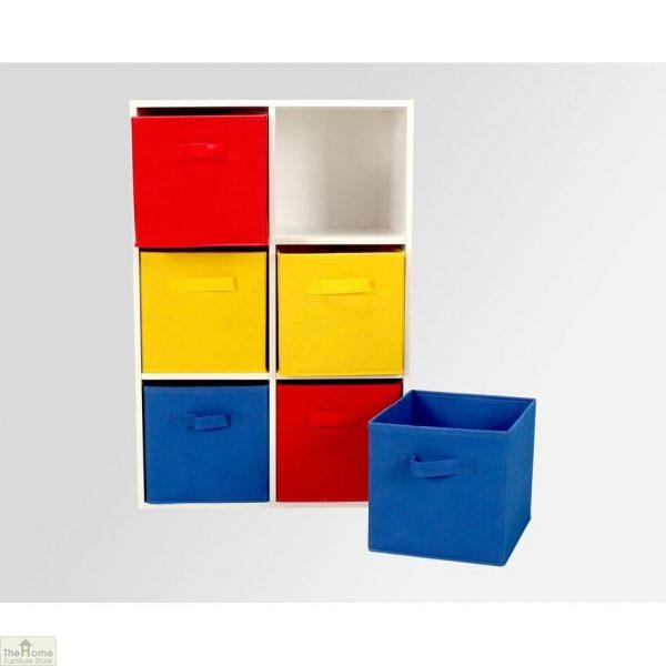 6 Wide Drawer Rainbow Storage Chest – Red/Yellow/Blue