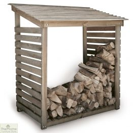 Wooden Log Store Shelter