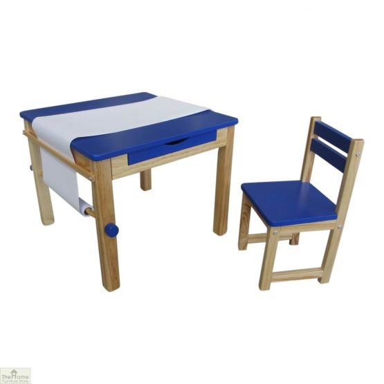 Blue Art Table and Chair_2