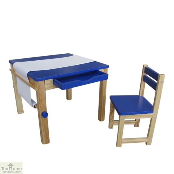 Blue Art Table and Chair_1