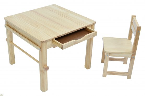 Natural Art Table and Chair