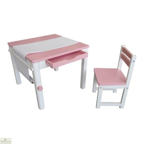 Pink Art Table and Chair