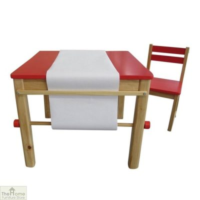 Red Art Table and Chair
