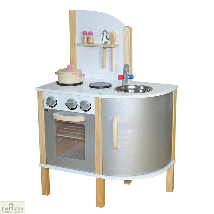 Grey Contemporary Wooden Toy Kitchen