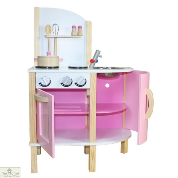 Pink Contemporary Wooden Toy Kitchen_2