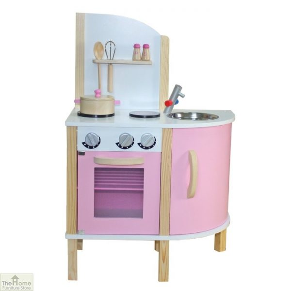 Pink Contemporary Wooden Toy Kitchen