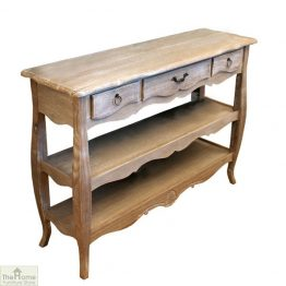Casamoré Bordeaux 3 Drawer 2 Shelf Console Table