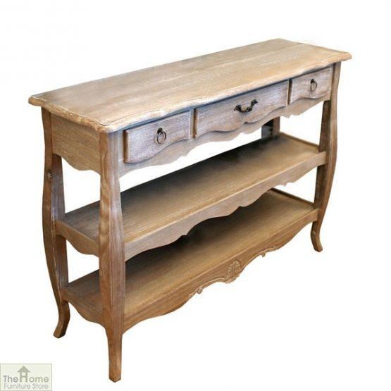 Casamoré Bordeaux 3 Drawer 2 Shelf Console Table