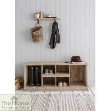 Welly/Shoe Locker in Natural Spruce