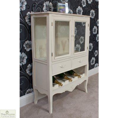 Devon Shabby Chic Wine Rack 2 Door 2 Drawer_2