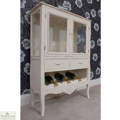Devon Shabby Chic Wine Rack 2 Door 2 Drawer_3