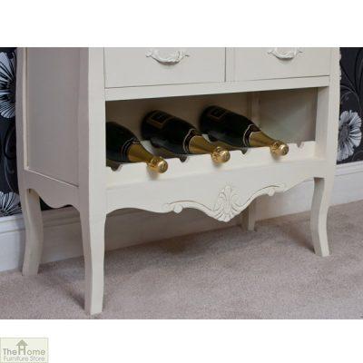 Devon Shabby Chic Wine Rack 2 Door 2 Drawer_4