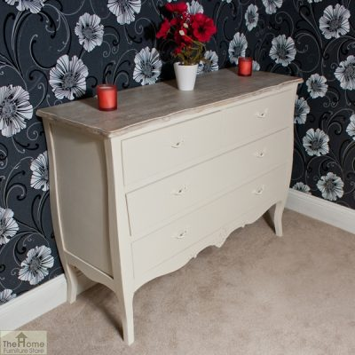 Devon Shabby Chic Chest of Drawers 2 Over 2 _3