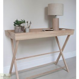 Large Raw Oak Butlers Table_1