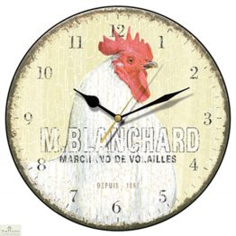 Blanchard French Hen Wall Clock