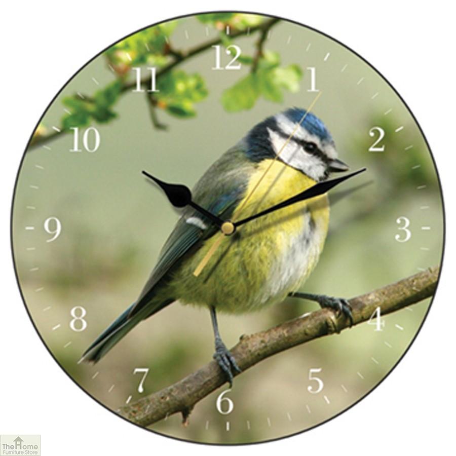 Blue Tit Wall Clock