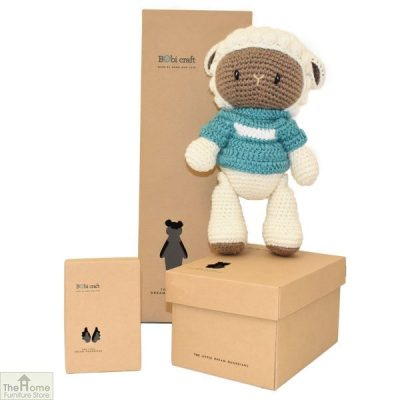 Sheep Knitted Toy Blue_1