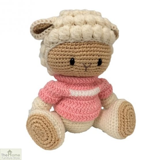 Sheep Knitted Toy Pink