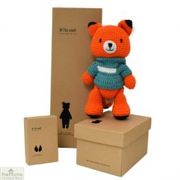 Fox Knitted Toy Blue_1