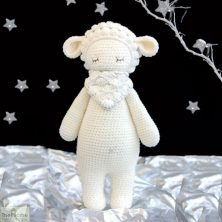 Sheep Knitted Toy White