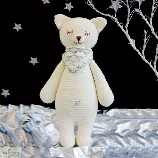 Fox Knitted Toy White