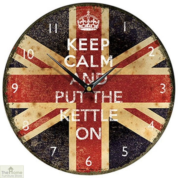 Keep Calm and Put the Kettle on Clock