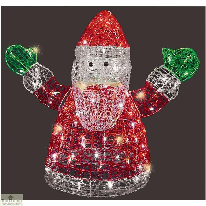 LED Acrylic Father Christmas Decoration
