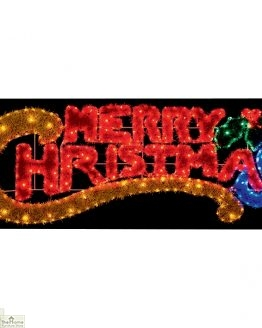 LED Merry Christmas Tinsel Sign